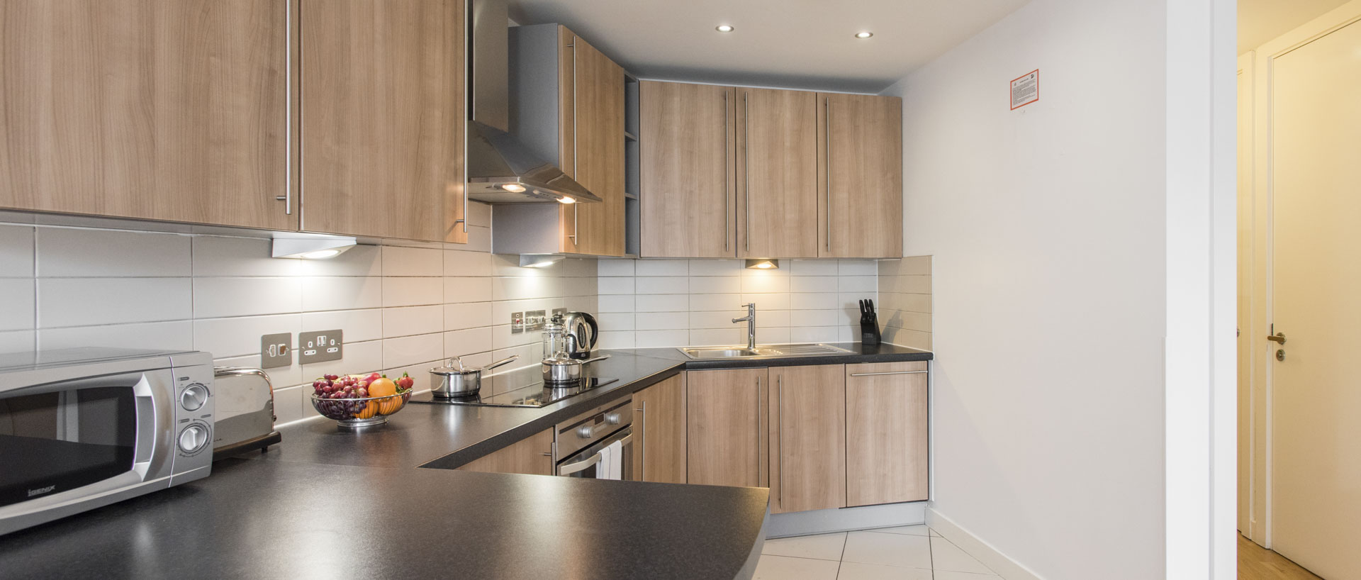 PREMIER SUITES Liverpool kitchen